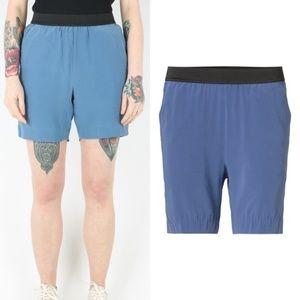 Whyred Silk Shorts Pockets Elastic Waist Swedish